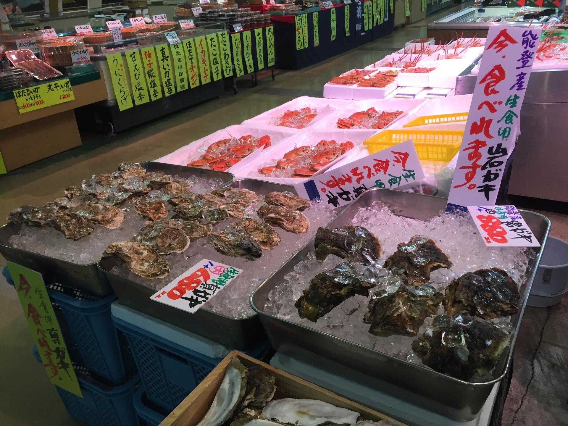 徳光PAで生牡蠣