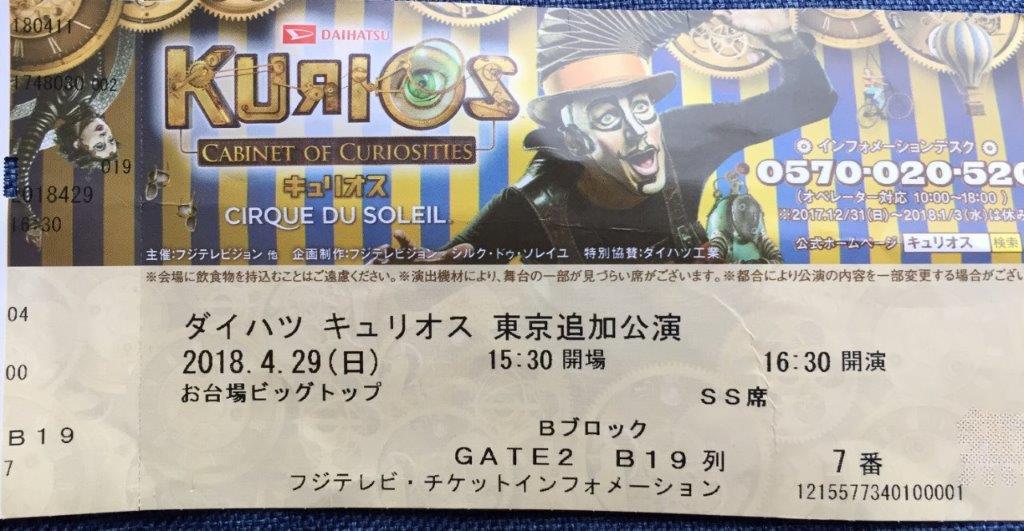 ダイハツキュリオスのチケット