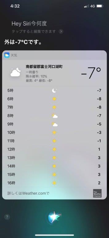 精進湖の温度