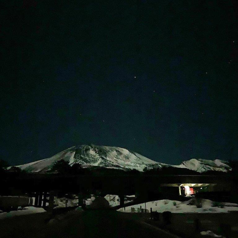 浅間山の夜景