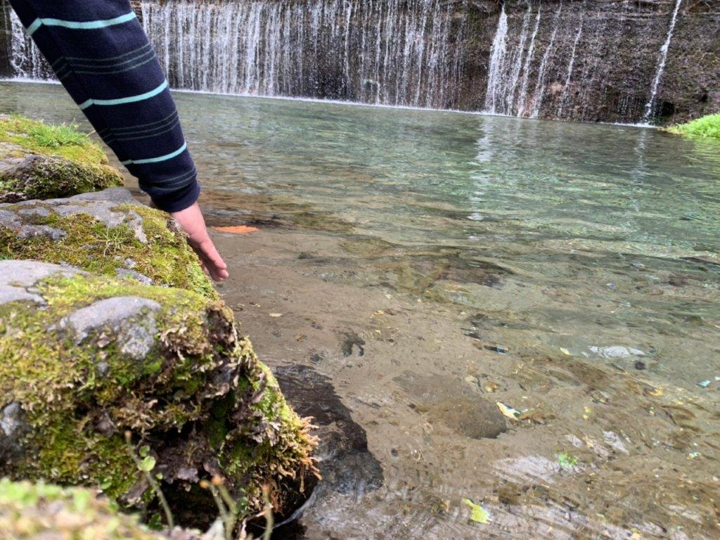白糸の滝の清流