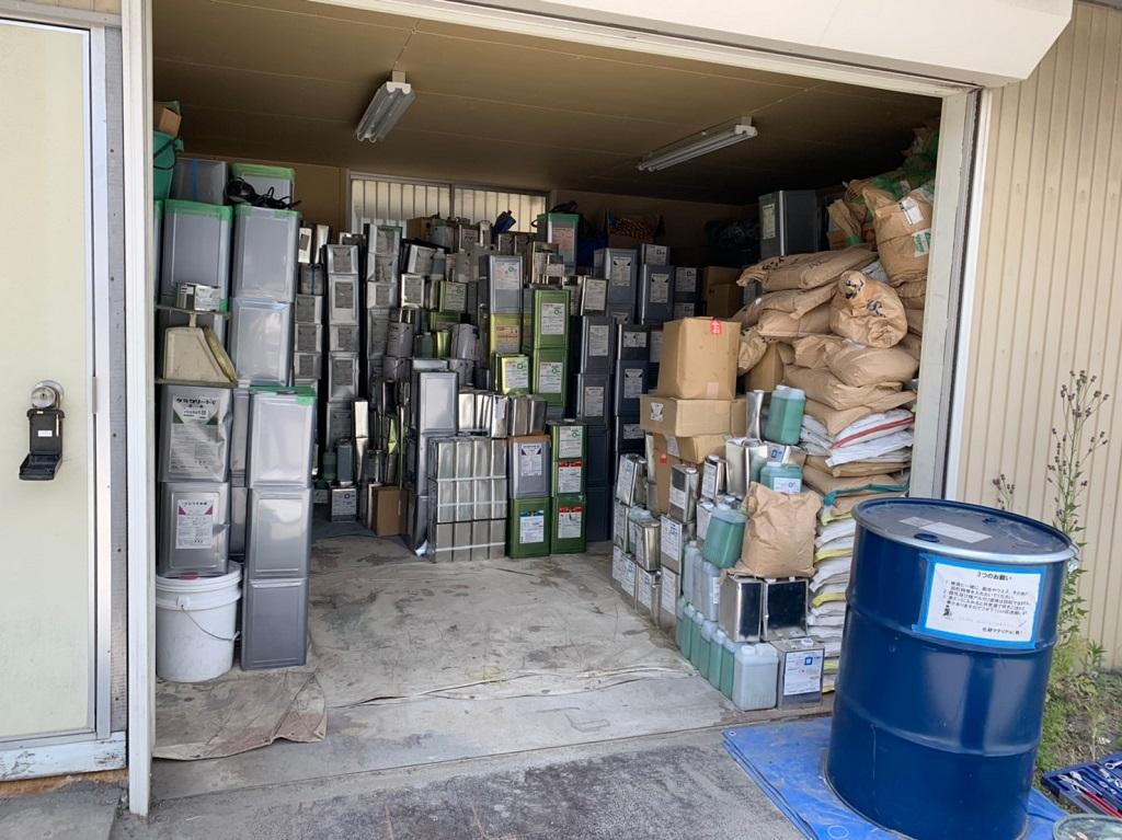 倉庫整理前の状態