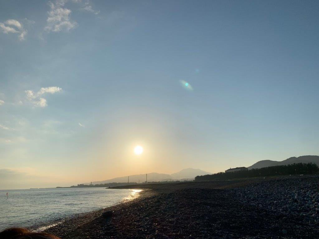 糸魚川での日の出