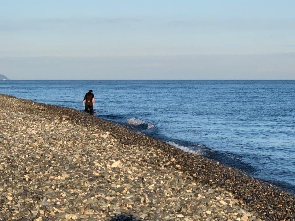 海岸を散策